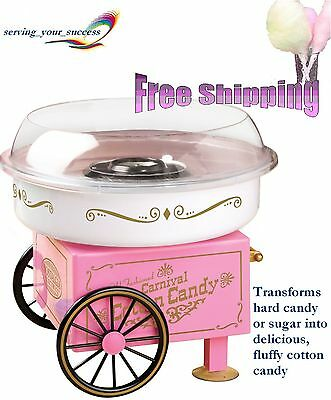 Electric Commercial Cotton Candy Maker Machine Cart Kit Store Booth Vintage