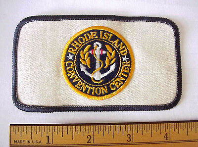 Rhode Island Convention Center Ship's Anchor Embroidered Logo Canvas Patch