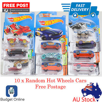10 x Random Brand New Hot Wheels Showdown Diecast Cars Fast Shipping From Melb