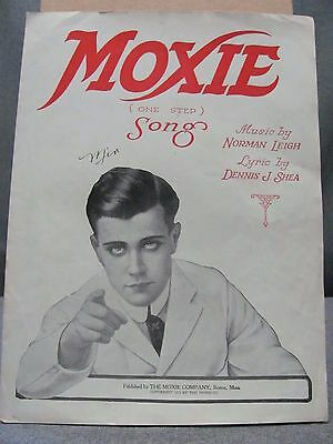 1921 Moxie Drink Song Sheet