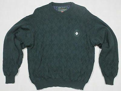 Oscar Jacobson Golf  Pullover Sweater Sweat-Shirt Winter Wind Stopper Wolle Gr L