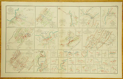 Authentic Civil War Map~Shenandoah Valley Camapign-Maryland & Pennsylvania-1864