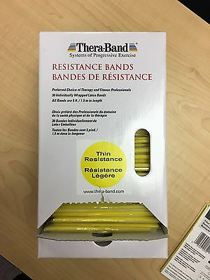 Theraband 5 Feet  Yellow  Light Resistance 1 New Individually Wrapped Band