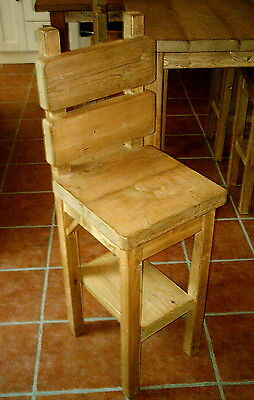 New Handmade Rustic Kitchen High Chairs/Stools