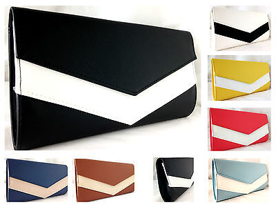 New Navy Royal Baby Blue Red Yellow Mustard Black White Evening Day Clutch Bag