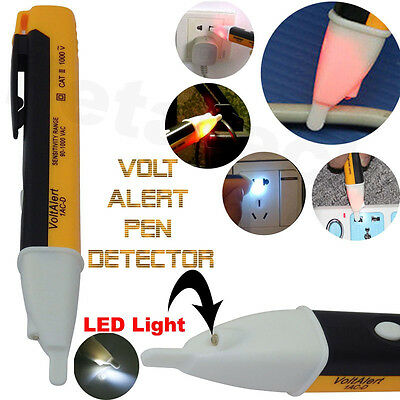 Non-Contact LED Electric Alert Voltage Detector AC 90~1000V Sensor Tester Pen
