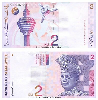 Malaysia 2 Ringgit 1996-99 P-40a Mint UNC Uncirculated Banknotes