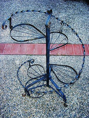 Vintage Wrought Iron Spiral Plant Stand