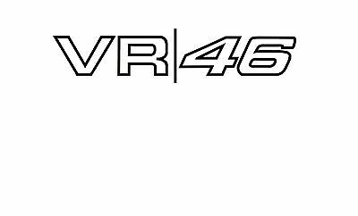 1 Stickers VR46,Grande taille, Rossi valentino, Yamaha, 46
