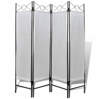 "vidaXL 4-Panel Room Divider 5' 3"" Folding Privacy Screen Home Dorm Partition"