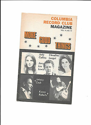 Columbia Record Club Magazine Vol 16 No 12 Johnny Cash Judy Collins Jerry Lee