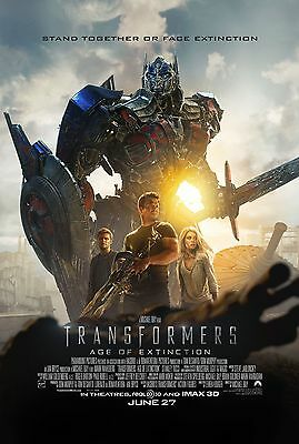 Transformers 4 Age of Extinction (2014) Movie Poster (24x36) - Wahlberg Cast NEW