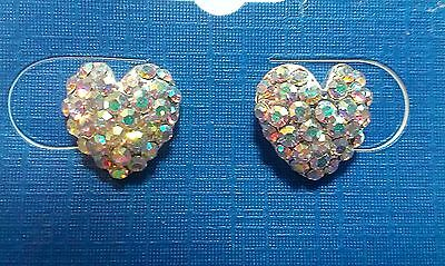 Ab crystal hearts earrings dance moms Ballroom competition performance kids