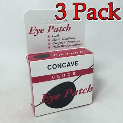 Concave Cloth Eye Patch, Blue, 1ct, 3 Pack 030138001341A491