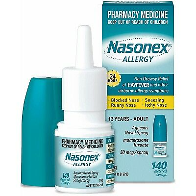 DJP NEW Nasonex Allergy Nasal 140 Sprays 24 hour | Allergy  Itchy Runny Blocked