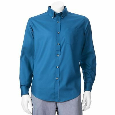 Big & Tall Croft & Barrow Solid Easy-Care Casual Button-Down Shirt MSRP $46.00