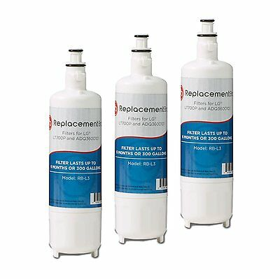 ReplacementBrand LG LT700P Comparable Refrigerator Water Filter, Pack of 3