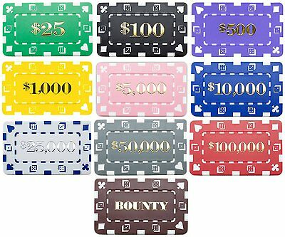 100 Ct Square Rectangular 32 Gram Poker Plaques Blank or Denominated Pick Chips