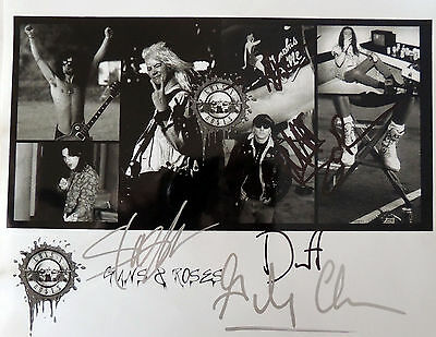 SLASH AXL ROSE Band Guns and Roses GNR signed Autographed PROMO Photo REPRINT RP
