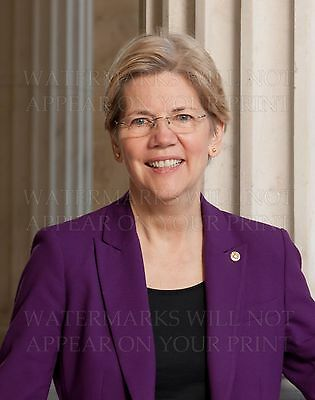 Senator Elizabeth Warren official photo new 8x10 print MA Massachusetts Democrat