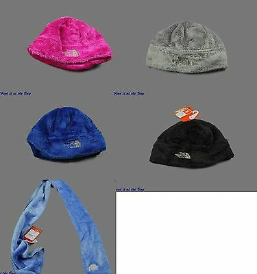 New North Face Denali Thermal Beanie Winter Hat Scarf Coastline Black Gray Pink