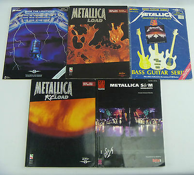 METALLICA GUITAR/BASS TAB: Ride the Lightning Load Reload S&M Master of Puppets