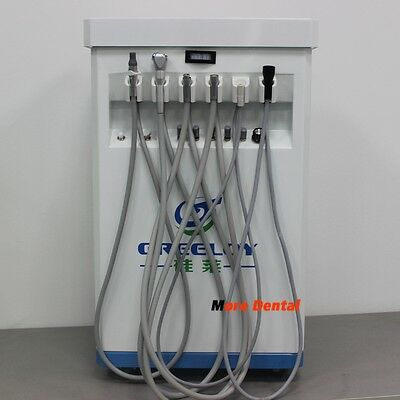 Portable Dental Unit Delivery Cart+Self Contained Compressor+Curing Light+Scaler