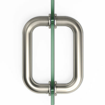 """SUNNY SHOWER Stainless Steel Pull Handle 6"""" Brushed Nickel for Shower Glass Door"""