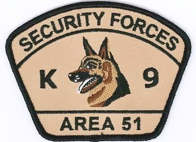 Area 51 Security Forces K-9 Unit Novelty Patch // Police // Military UFO Alien