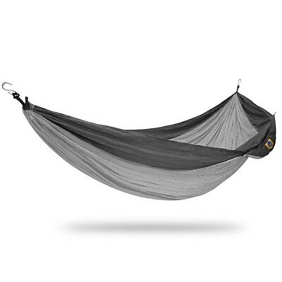 Ticket to the moon Double Hammock Light grey/Dark grey | Camping Outdoor Hiking