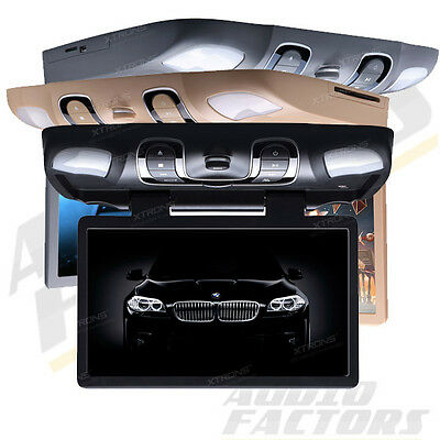 """XTRONS 15.6"""" Car Flip Down Monitor DVD Player Roof Mounted Monitor USB SD Games"""