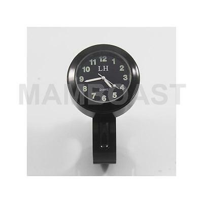 "Hot Motor Motorcycle Handlebar Mount Clock Universal 7/8""1"" For Harley Black"