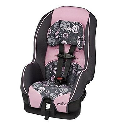 Girl Car Seat Baby Toddler Convertible Safety Infant Child Pink and Grey Paisley