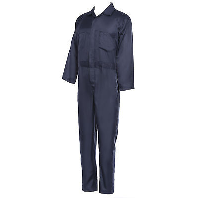 Blue BOILER SUIT OVERALL COVERALL Mechanic college work M L XL MENS Workwear