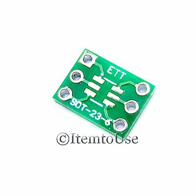 5 x SOT-23 6 PIN 0.95mm to DIP 6 PIN 7.62mm Pitch Adapter PCB SMD Convert SOT23