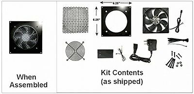 Coolerguys Single 120mm Fan Kit With Pre-set Thermal Controller CG-1201-P