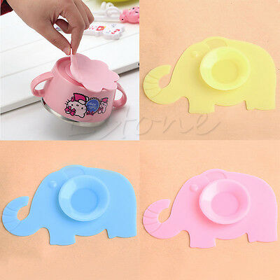 Non-slip Baby Silicone Bowl Meal Mat Suction Pad Kids Tableware Sucker Sticker