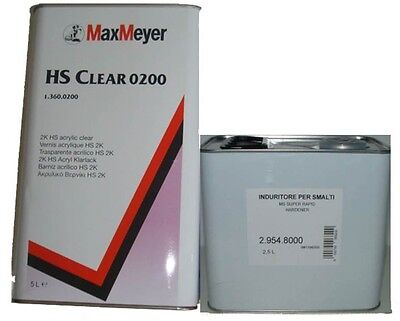 Max Meyer 0200 2K Clear Coat Lacquer 5L +  EXPRESS Activator 8000 2.5L