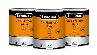 Lesonal 2K Filler Primer 540 Grey 3 Litre