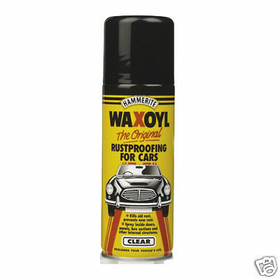 Hammerite Waxoyl Rust Proofing Car 400ml Aerosol Clear