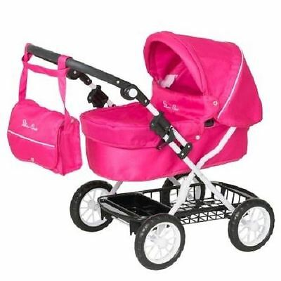 New Silver Cross Childrens Ranger Junior Dolls Pram Pink Blush Toy 3-7 Years
