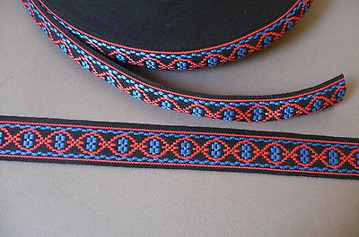 Embroidered 70's Boho. Cotton Trim. Vintage. 30mm x 3 Metres