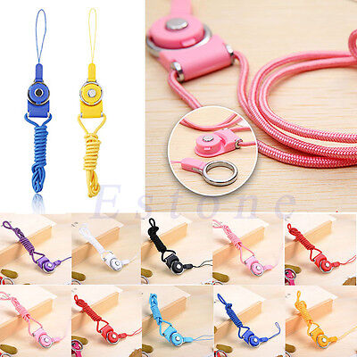 Detachable Neck Strap Ring Lanyard For iPhone Samsung Cell Phone ID Card MP3 PSP