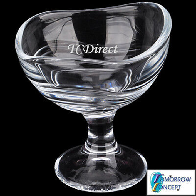 2x 158ml Classic Glass Ice Cream, Dessert Bowl Cafe Restaurant Bar (KTY6216)