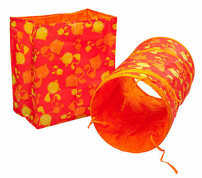 Kitten Cat Toy Pack Crinkly Bag & Foldable Tunnel Set Fun Sensory Play Petface