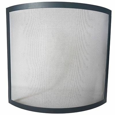BUCKTON SPARK GUARD Fire Screen Safety Protector Black Shield Spark Fireplace