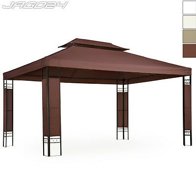 Garden Pavilion Gazebo Double Roof Outdoor Party Tent Canopy Steel Frame 3x4m