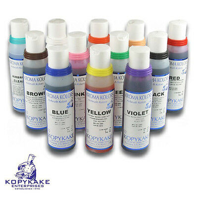 Kroma Airbrush Colours Set Of 12 4oz Bottles