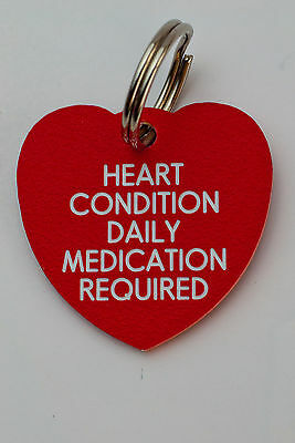 Quality Engraved Pet tag - Mini  20mm Heart acrylic