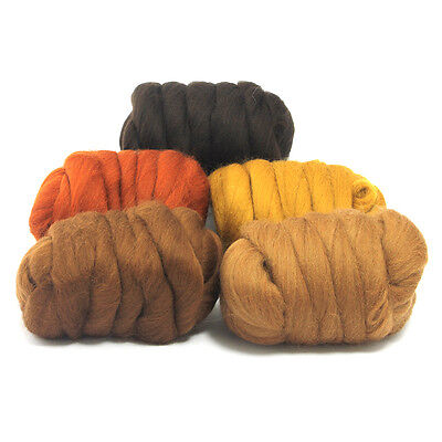 Barky Browns - Dyed Merino Wool Top - Felting - Roving - Spinning - 250g